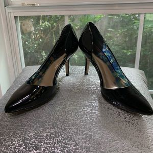 MADDEN GIRL BLACK PATENT LEATHER LOOK HEELS
